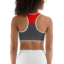 Red Tricolor Sports bra