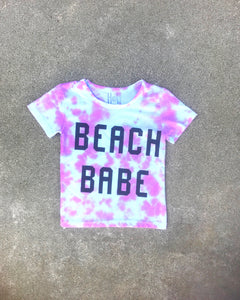 Purple Beach Babe Tie Dye Baby & Toddler Shirt