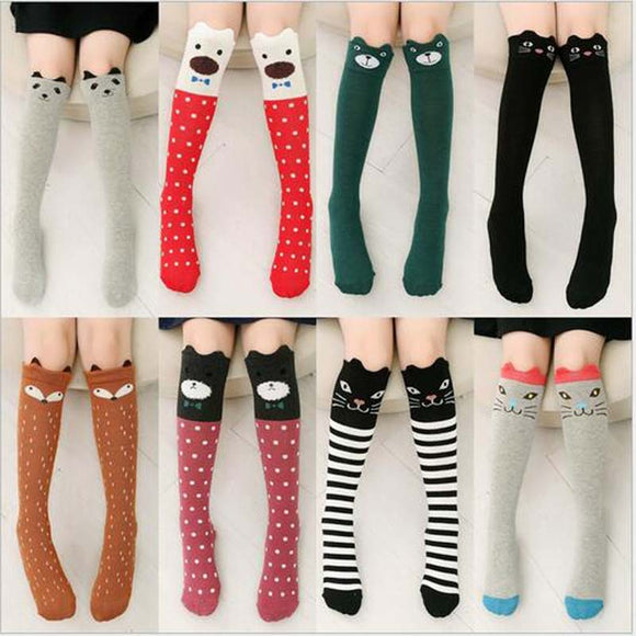 Girls Knee High Animal Socks