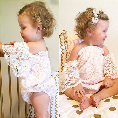 Off the Shoulder Lace Romper