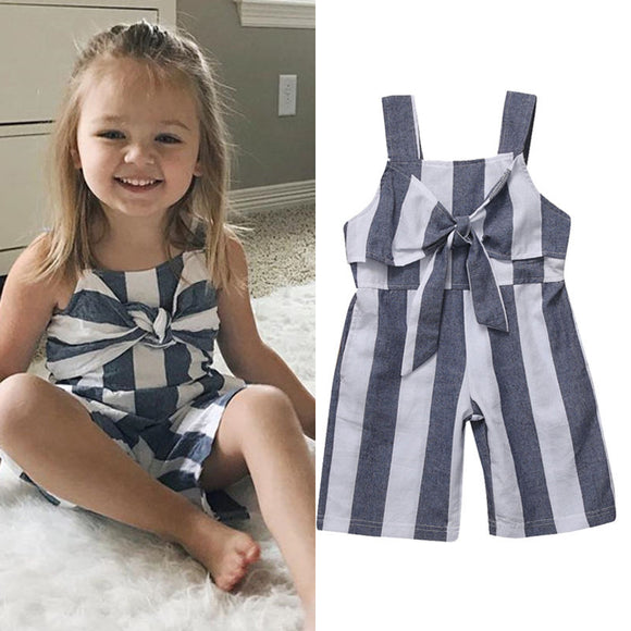 Striped Romper with Tie