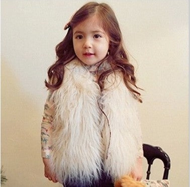 Toddler Girls Faux Fur Vest 12M-10 yrs