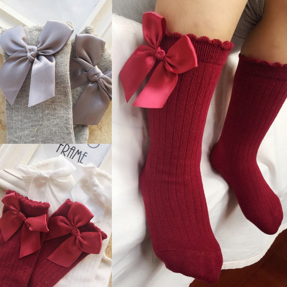 Tall Bow Socks