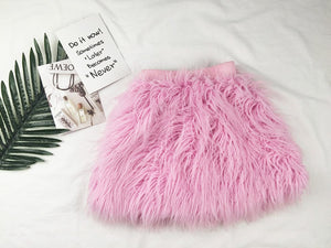 Faux Feather Pink Skirt