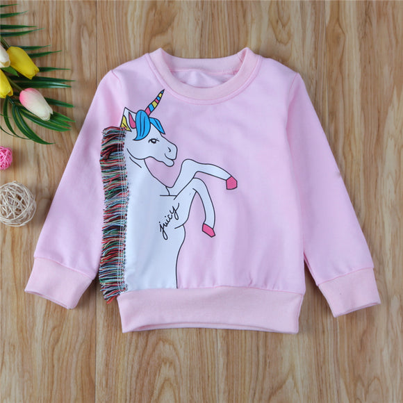 Unicorn Tassel Lightweight Sweatshirt