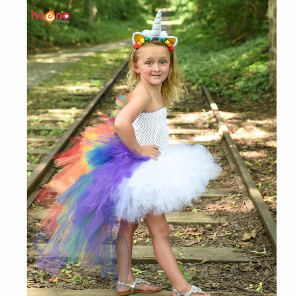 Rainbow Tulle Unicorn Costume