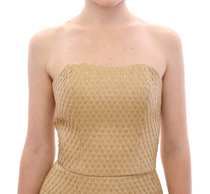Beige Silk Cami Tank Top