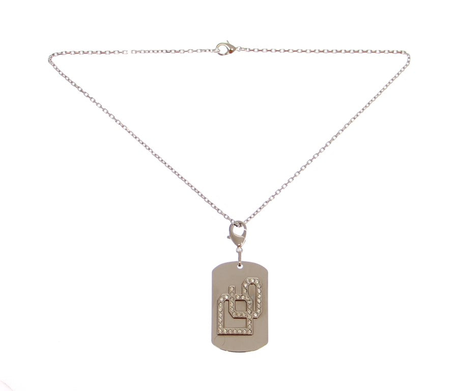 Brass Silver DG Crystal Necklace