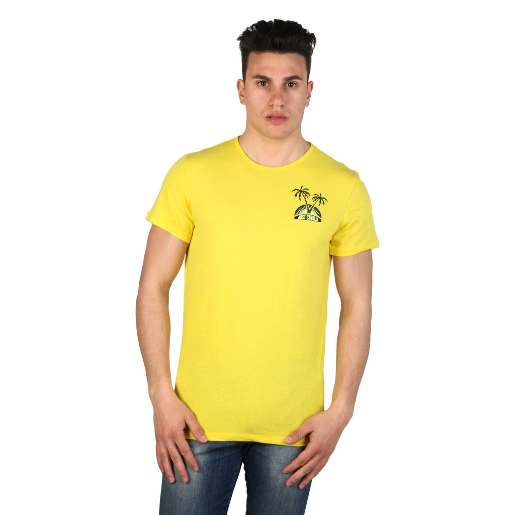 Just Cavalli 15GRMCF44_YELLOW-102C T-shirts - Les Bleu Saphire