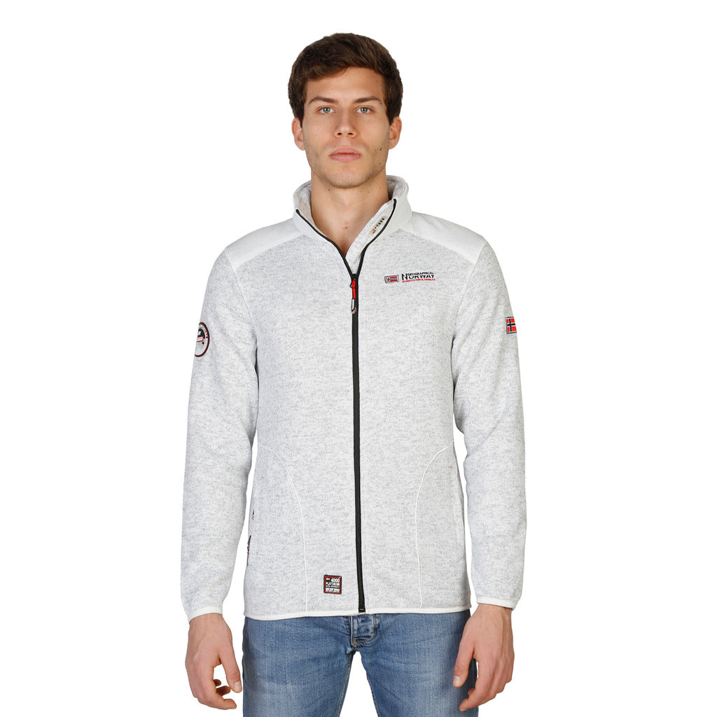 Geographical Norway Tuteur_man_white Sweatshirts - Les Bleu Saphire