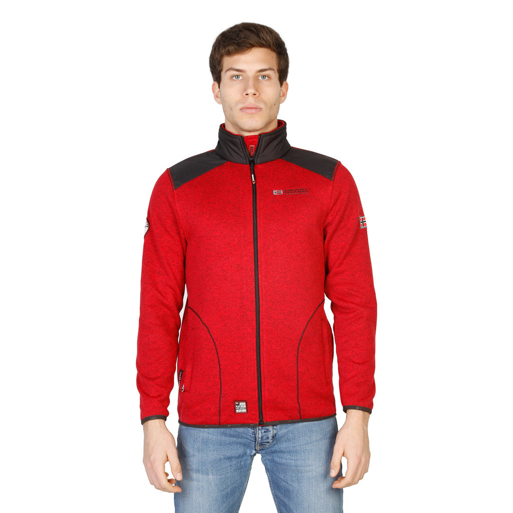 Geographical Norway Tuteur_man_red_dgrey Sweatshirts - Les Bleu Saphire