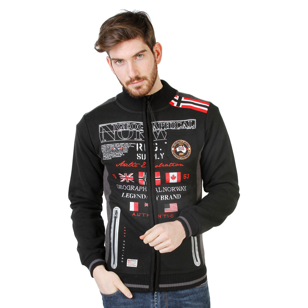 Geographical Norway Gerinos_man_black Sweatshirts - Les Bleu Saphire