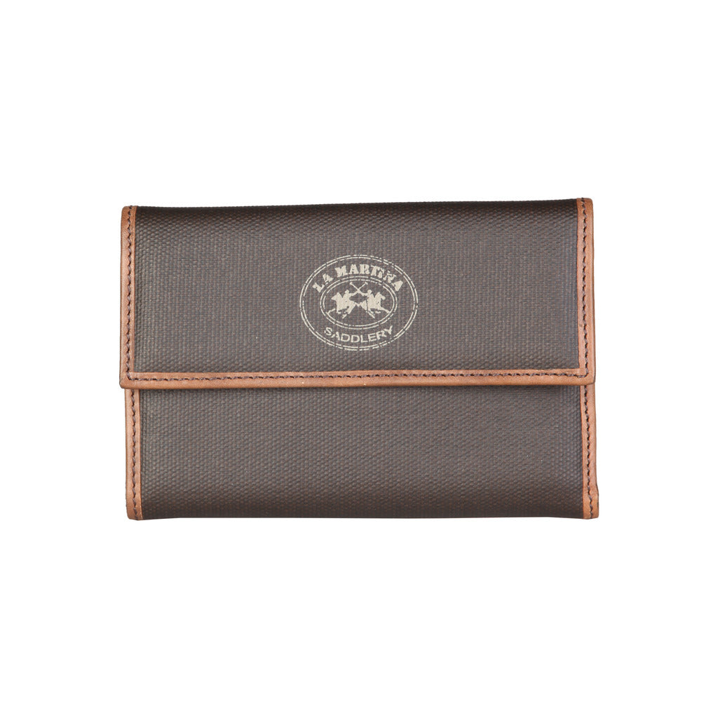 La Martina L23PW0030203_026_DKBROWN Wallets - Les Bleu Saphire