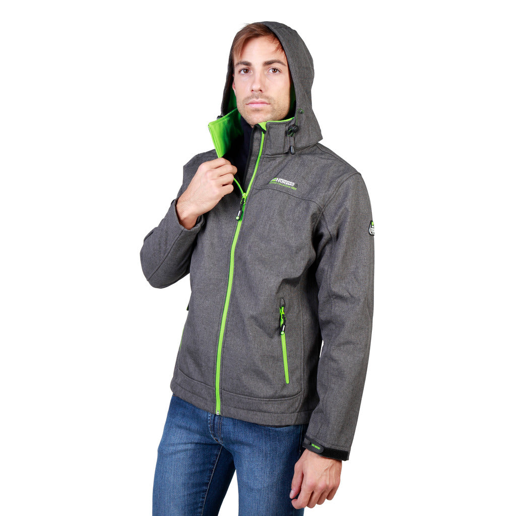 Geographical Norway Twixer_man_dgrey_green Jackets - Les Bleu Saphire