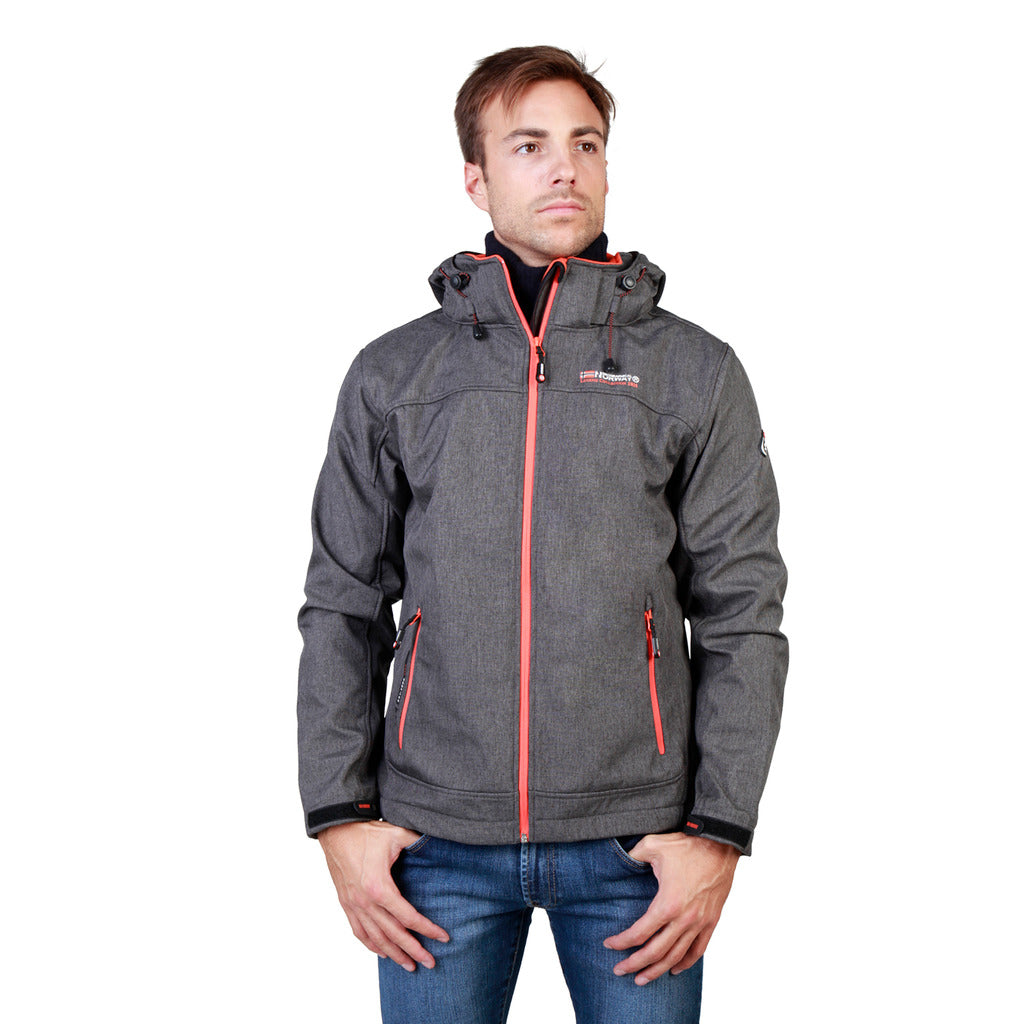 Geographical Norway Twixer_man_dgrey_orange Jackets - Les Bleu Saphire
