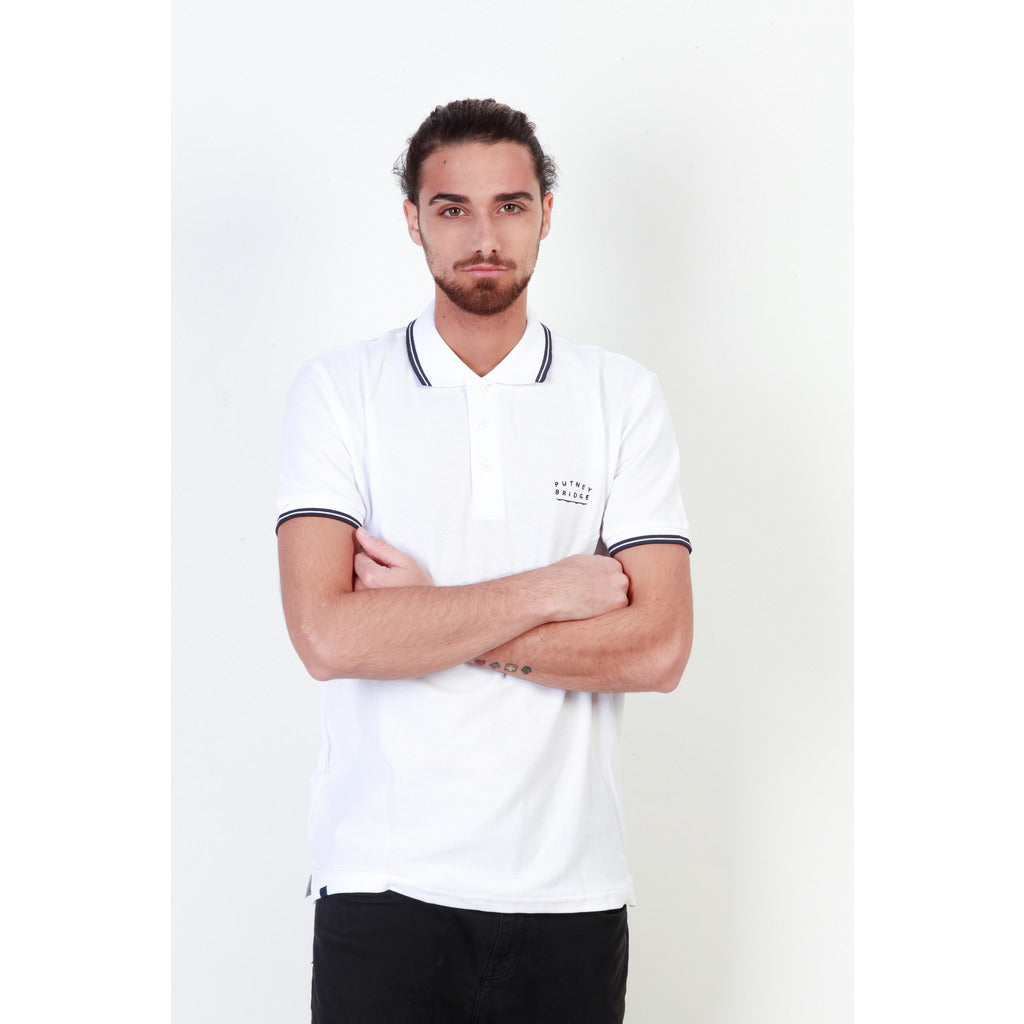 Putney Bridge PBMPT024_WHITE-NAVY Polo - Les Bleu Saphire
