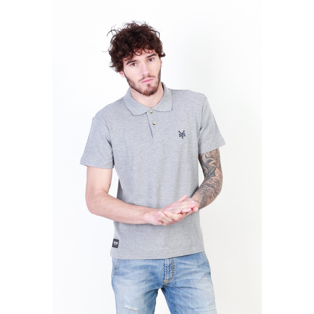 Zoo York ZZMPT066_GREY-MARL Polo - Les Bleu Saphire