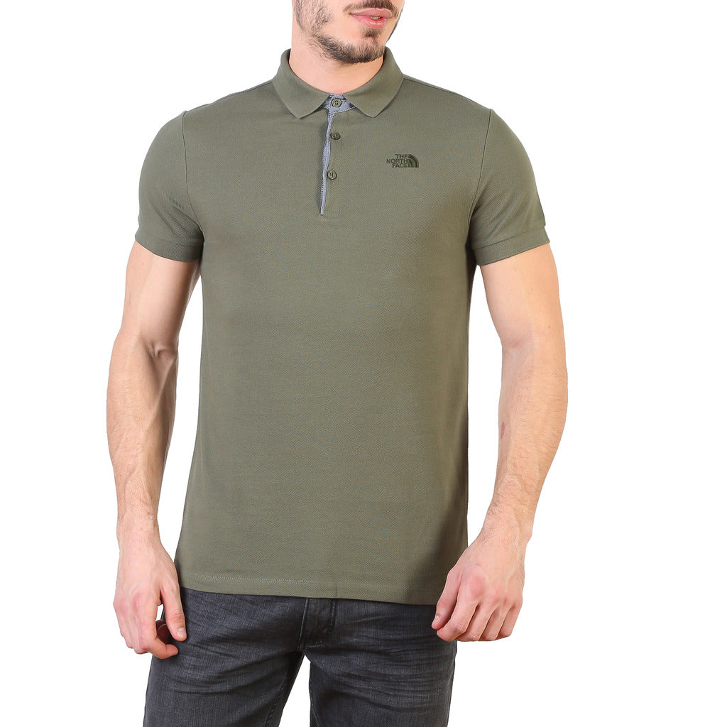 The North Face T0CEV421L_PREMIUM-POLO-PIQUE-TAUPE Polo - Les Bleu Saphire