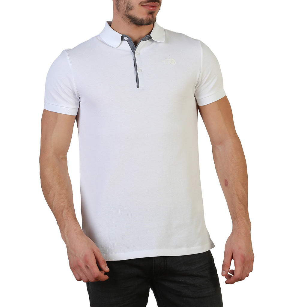 The North Face T0CEV4TAD_PREMIUM-POLO-PIQUE-WH Polo - Les Bleu Saphire