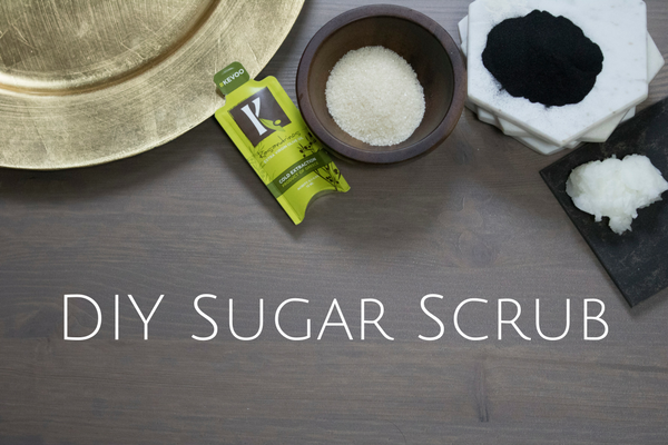 DIY Sugar Scrub With Activated Charcoal