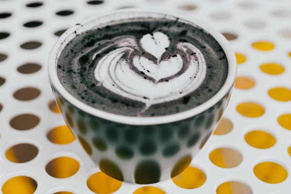 DIY Activated Charcoal Latte