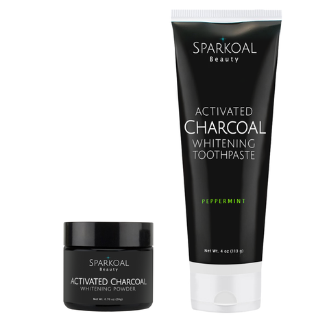 Charcoal Teeth Whitening Powder And Toothpaste By Sparkoal Beauty