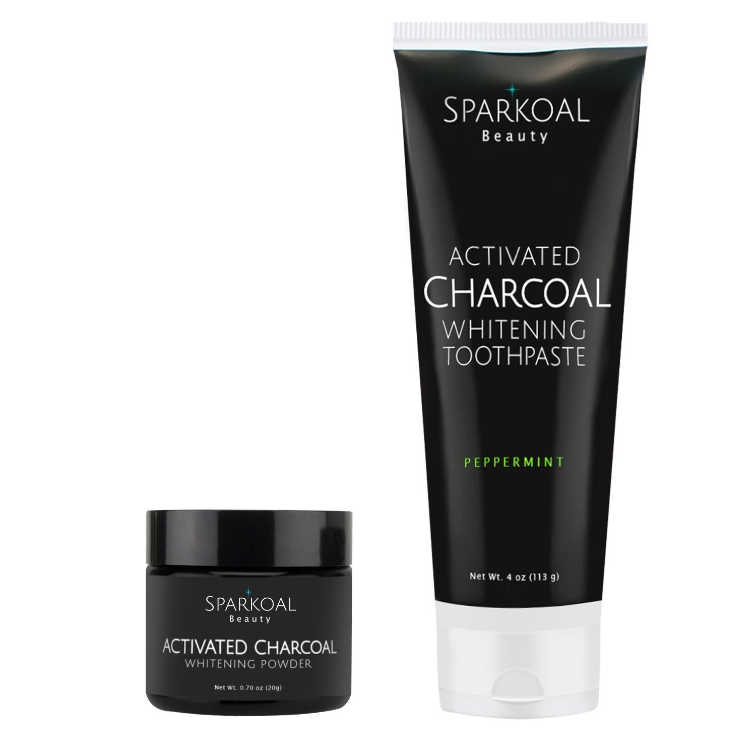 Activated Charcoal Teeth Whitening Powder And Toothpaste