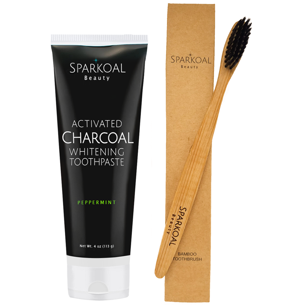 Activated Charcoal Toothpaste And Bamboo Toothbrush By Sb
