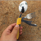 Camping Yellow Camp Kitchen, Cutlery Outback Outdoor Gear