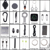 Survival Fluorescence Carabinas, Compasses, Emergency Gear, Fire Starters and Lighters, Paracord Products Outback Outdoor Gear