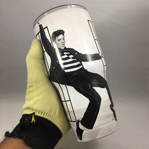 Elvis Presley Tumbler, Personalized Tumbler, Custom 30oz Be Seen Designs Tumbler Fully Wrap