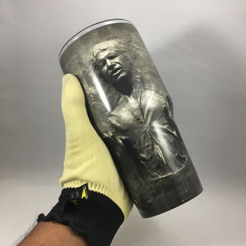 Hans Solo Frozen in Carbonite Tumbler, Personalized Tumbler, Custom 30oz Be Seen Designs Tumbler Fully Wrap
