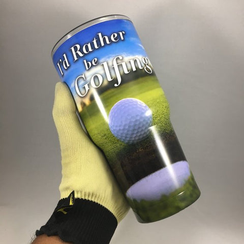 I'd Rather Be Golfing Tumbler, Personalized Tumbler, Custom 30oz Be Seen Designs Tumbler Fully Wrap