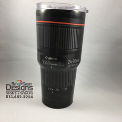 Camera Lens Tumbler, Personalized Tumbler, Custom 30oz Be Seen Designs Tumbler Fully Wrap
