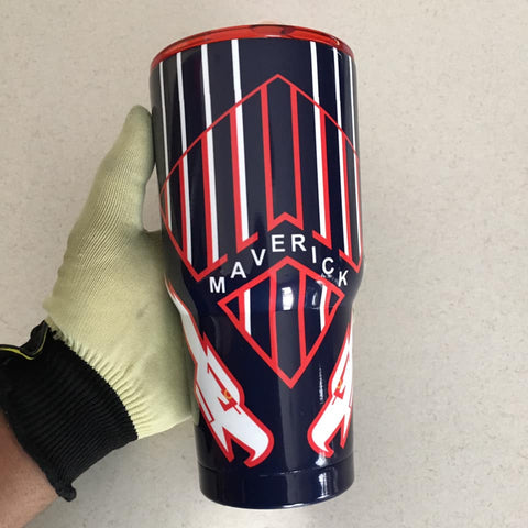 Top Gun Maverick Tumbler, 30oz Be Seen Designs Tumbler Fully Wrap