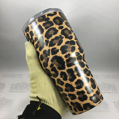 Leopard Tumbler, Personalized Tumbler, Custom 30oz Be Seen Designs Tumbler Fully Wrap