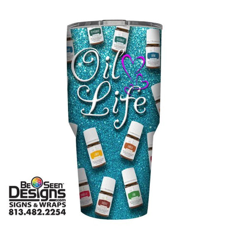 Young Living Tumbler, Personalized Tumbler, Custom 30oz Be Seen Designs Tumbler Fully Wrap