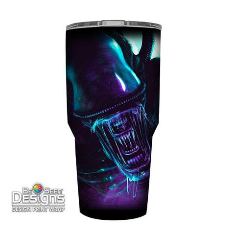 Aliens Tumbler, Personalized Tumbler, Custom 30oz Be Seen Designs Tumbler Fully Wrap