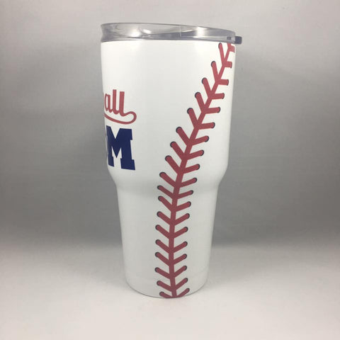 Baseball Mom Tumbler, Personalized Tumbler, Custom 30oz Be Seen Designs Tumbler Fully Wrap