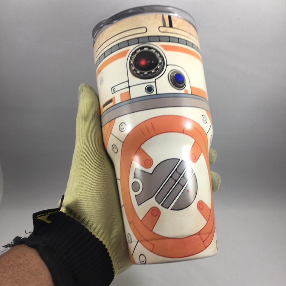 BB-8 Tumbler, Personalized Tumbler, Custom 30oz Be Seen Designs Tumbler Fully Wrap