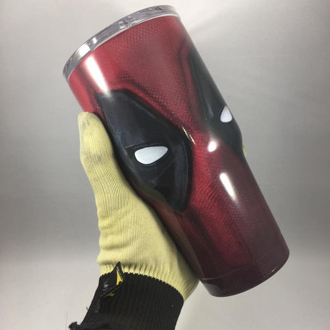 Deadpool Tumbler, Personalized Tumbler, Custom 30oz Be Seen Designs Tumbler Fully Wrap
