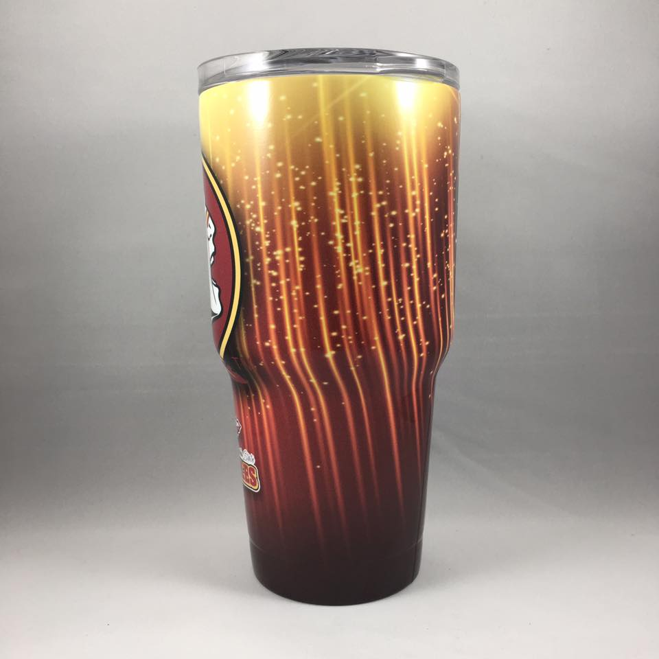 FSU Seminoles Tumbler, Personalized Tumbler, Custom 30oz Be Seen Designs Tumbler Fully Wrap