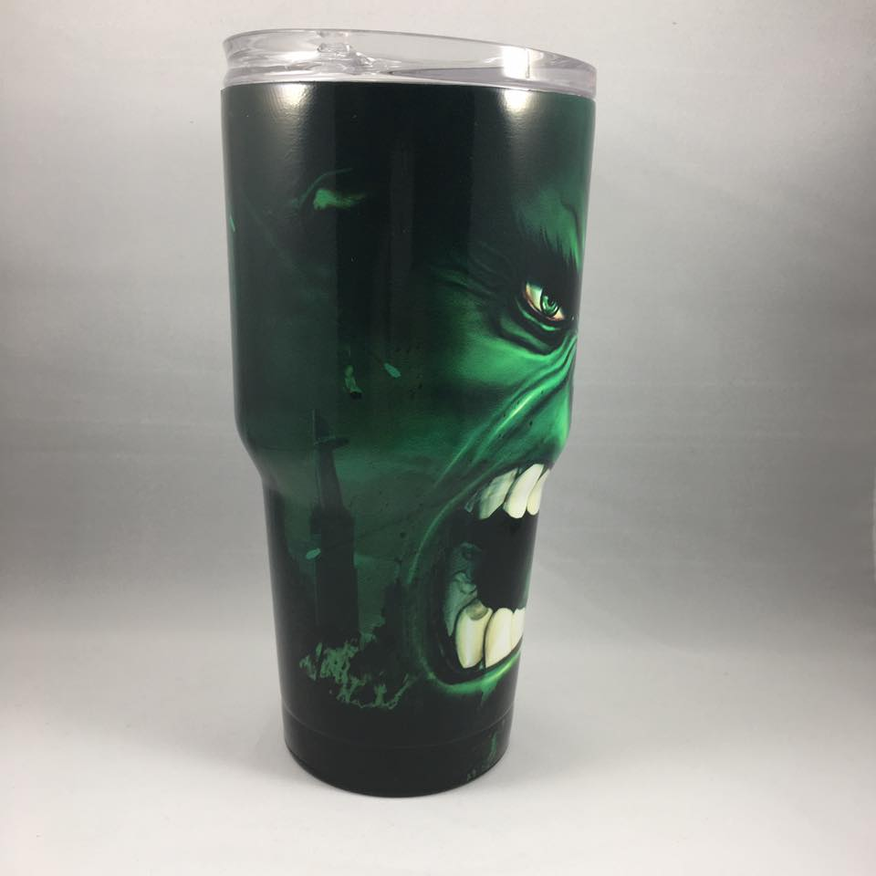 Hulk Tumbler, Personalized Tumbler, Custom 30oz Be Seen Designs Tumbler Fully Wrap