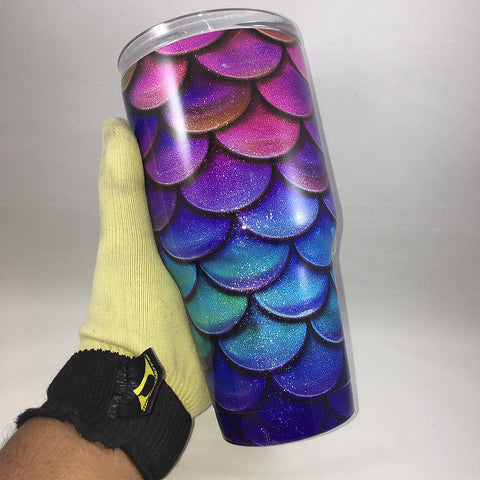 Mermaid Tumbler, Personalized Tumbler, Custom 30oz Be Seen Designs Tumbler Fully Wrap