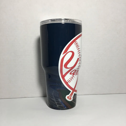 New York Yankee Baseball Logo Tumbler, Personalized Tumbler, Custom 30oz Be Seen Designs Tumbler Fully Wrap