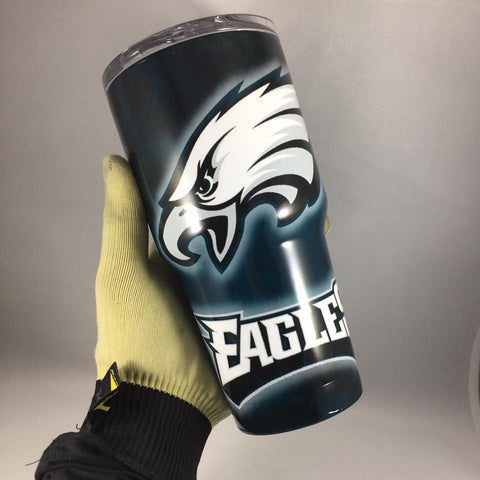 Philadelphia Eagles Tumbler, Personalized Tumbler, Custom 30oz Be Seen Designs Tumbler Fully Wrap