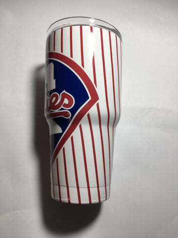 Philadelphia Phillies Tumbler, Personalized Tumbler, Custom 30oz Be Seen Designs Tumbler Fully Wrap