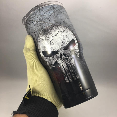 Punisher Tumbler, Personalized Tumbler, Custom 30oz Be Seen Designs Tumbler