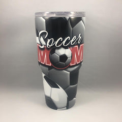 Soccer Mom Tumbler, Personalized Tumbler, Custom 30oz Be Seen Designs Tumbler Fully Wrap