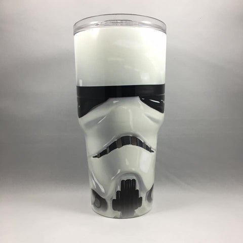 Stormtrooper Tumbler, Personalized Tumbler, Custom 30oz Be Seen Designs Tumbler Fully Wrap